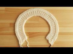 Fabrika Lastiği ile Başlamalı Torba Biye Yaka Çalışması - YouTube Baby Knitting Patterns, Knitting Designs, Hand Knitting, Stitch Patterns, Crochet Patterns, Bunny Blanket, Knitted Baby Clothes, Crochet Cardigan Pattern, Viking Tattoo Design