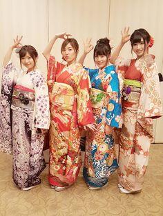 Kimono Dress, Kimono Top, Japanese Kimono, Kimono Fashion, Traditional Dresses, Asian Woman, Asian Beauty, Girl Group, Kawaii