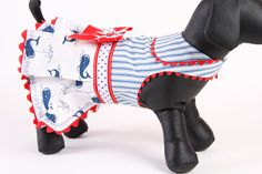 DOG DRESS  Navy Whales by JustForBella on Etsy, $80.00