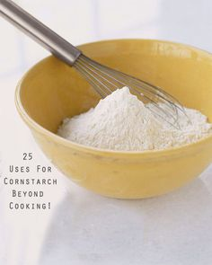 I had no idea that cornstarch is such a versatile tool! Use it for cooking, crafts, cleaning and more!