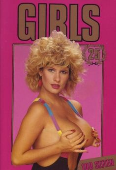 A classic image of 80s woman from a retro European adult magazine.