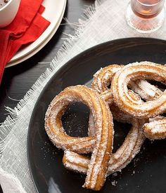 Churros with hot chocolate recipe | Gourmet Traveller recipe :: Gourmet Traveller