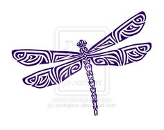 Tribal Dragonfly | Tribal Dragonfly Tattoo by sockypoo For Grandmas Birthday maybe, I would do it in different shade of green maybe in pointillism on some canvas.