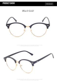 e84a8529cd Brand Fashion Half Frame Male Eyeglasses Women Vintage Round Men Eye  Glasses Frame Optical Spectacle Frame Prescription Eyewear