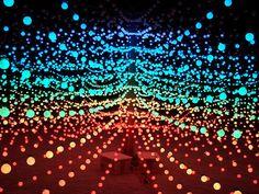 Christmas lights and ping pong balls maybe?
