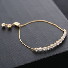High-Quality-Genuine-Gold-Filled-Crystal-Women-Braided-Wristband-Bracelet-Bangle