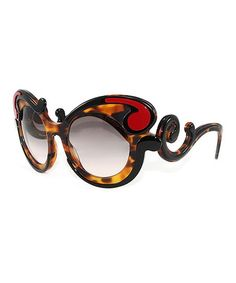 9f3f4f6a20fe Prada Havana   Red Swirl Cat-Eye Sunglasses