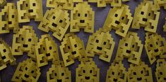 Pop-up paper space invaders! (Free print and cut template from Popupology)
