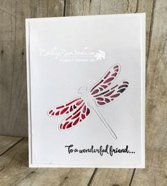 Watercolor Dragonfly... | Rambling Rose Studio | Billie Moan | Detailed Dragonfly Thinlits, Dragonfly Dreams (sentiment)