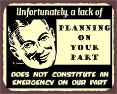Lack of Planning Vintage Metal Art Funny Art Retro Tin Sign