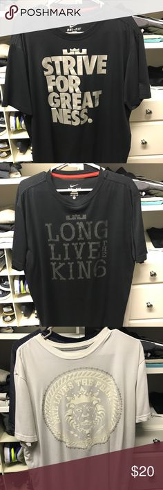 3 lebron Nike Tshirt Sold seperate 20each of $45 for all Shirts Tees - Short Sleeve