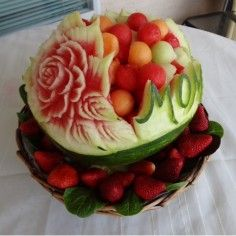Mom Watermelon Carving