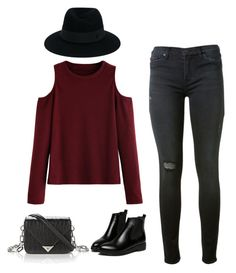 """""""Minimalist"""" by carplechun on Polyvore featuring Hudson, Maison Michel, WithChic and Alexander Wang"""