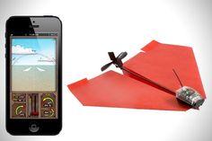 PowerUp faz o aviãozinho de papel voar, controlado pelo iPhone!
