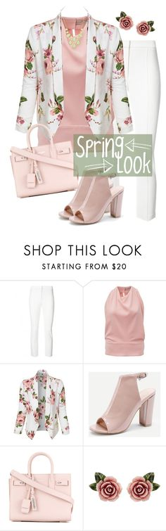 """Untitled #1287"" by rachelbarkho ❤ liked on Polyvore featuring ADAM, Balenciaga, LE3NO, Yves Saint Laurent, Dolce&Gabbana and BillyTheTree"