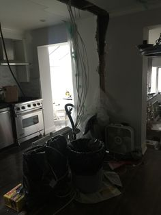 Demolished wall - new light in kitchen