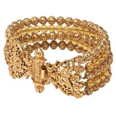 Indian Golden Blossom Bracelet - Bracelets - Jewelry - The Met Store