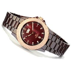 It has all the features a girl could ask for... All in a beautiful shade of brown...A must have Oniss Paris Mother-of-Pearl Dial Ceramic Watch