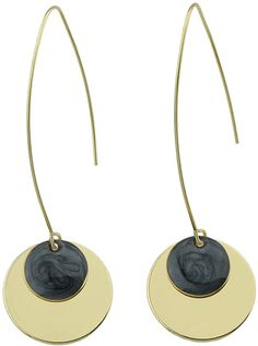 dd6e094a2d10 Romwe Black Round Party Female Earrings Romwe