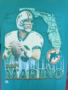 7281010c0 Grew up in Miami. Got me a t shirt for Christmas and signed from Dan Marino