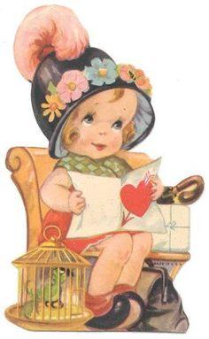 VintageFeedsacks AngelsCherubs  Happy Valentine  Pinterest