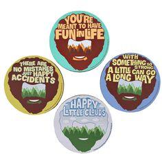 Bob Ross - Happy Little Coasters