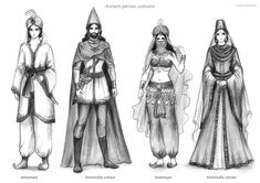 Persian stereotype and historically correct costumes. Art by my sister.