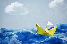 So inspiring - but who made this gorgeous image, I have tried to find it everywhere! paper-boat.jpg (1024×683)