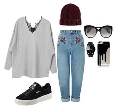 """""""Untitled #8"""" by gherasim-alicia on Polyvore featuring Miss Selfridge, Puma, Dr. Martens and Alexander McQueen"""