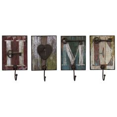 I pinned this 4 Piece Casa Wall Hook Set from the 55th Street Designs event at Joss and Main!