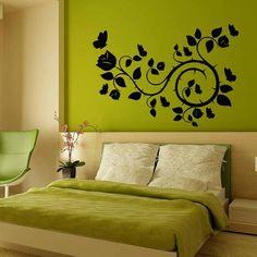 Bedroom Wall Colors, Living Room Bedroom, Home Decor Bedroom, Kids Bedroom, Living Room Decor, Wall Painting Decor, Flower Wall Decals, Art Mural, Wall Murals