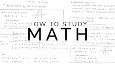 How To Study Math Math Strategies, Math Resources, Math Activities, Math Tips, School Hacks, School Tips, Maths Exam, Math Notes, Real Numbers