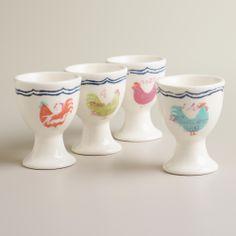 Rooster Egg Cups, Set of 4 | World Market