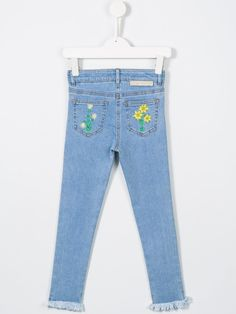 #stellamccartney #kids #flower #embroderies #detail #jeans  www.jofre.eu
