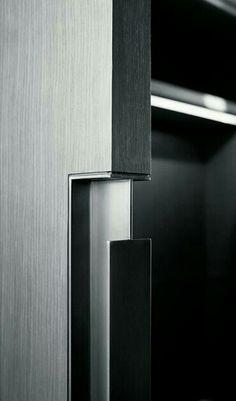 The best Door Pulls to enrich your modern designs. Sliding Door Handles, Door Pulls, Sliding Doors, Architecture 3d, Joinery Details, Boffi, Door Detail, Furniture Handles, Pocket Doors