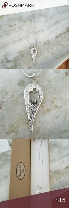 Angel wing angel necklace Angel wing necklace. Still in box Jewelry Necklaces