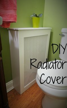 How to build a radiator cover from an old dresser. It's cheap and easy to make. Media Furniture, Furniture Ideas, Diy Bathroom Furniture, Diy Radiator Cover, Old Dressers, Woodworking Projects Diy, Dream Decor, Home Projects, Home