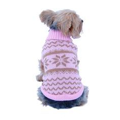Puppy Dog Pet Classic Snowflake Turtle Neck Sweater Winter Warm Clothes - Overstock™ Shopping - The Best Prices on Pet Apparel