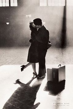 Eternal Kiss, Central Station, 1944 Unknown Fine Art Print Poster