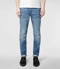 Mens Hideko Cigarette Jeans (Indigo) | ALLSAINTS.com