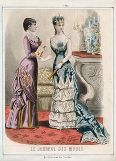 Le Journal des Modes from 1880 and volume 51, plate 98. Casey Fashion Plate Index. LAPL.