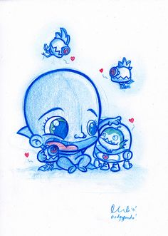 Here's today's Daily Doodle; baby Megamind and wee minion! A5 size (8.3 x 5.8…