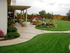 Nice backyard.