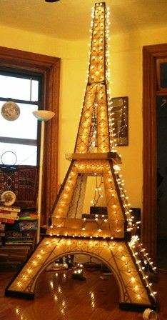 Kids at the Ascension School (W. 108th St) used our donated boxes to create a 12-foot-tall cardboard Eiffel Tower!