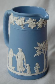 This is a medium sized lovely pitcher that is in my Wedgwood collection.