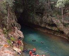 Cave tubing in Belize....OMG. Looks like a monster would come up outta the water and strangle me or pull me by the legs...BUT. Def want to do this!