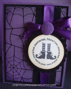 Trick or Treat Smell my Feet Witch by CraftyClippingsbyPeg