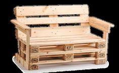 Gartenmöbel aus Europaletten selber bauen mit Bauanleitung für Palettenbank