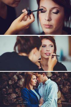 Delicate wedding makeup. Rose and gray makeup. Makijaż ślubny. Brudny róż i szary.
