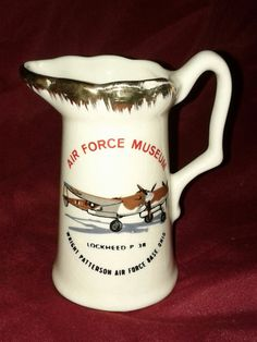 SOLD - Vintage Ceramic Souvenir Pitcher Air Force by oldnsalvagedtreasure, $6.00